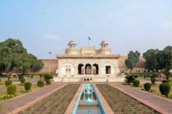 Lahore fort från den Badshahi moskén, Lahore, Punjab, Pakistan Arkivbilder