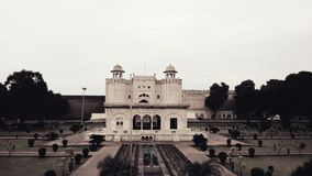 Lahore Fort. The Lahore Fort, locally referred to as the Shahi Qila, is a citadel in the city of Lahore, Punjab, Pakistan. It is located in the northwestern Royalty Free Stock Image