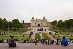 Lahore fort, Pakistan Arkivbilder