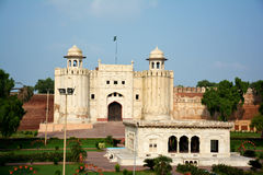 Lahore Fort and Tomb of Allama Iqbal Stock Photography