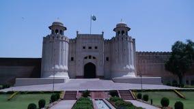 Lahore fortaka Shahi qila, Pakistan Arkivbild