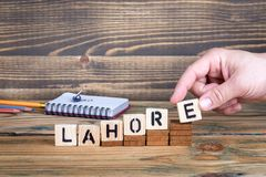 Lahore, miasto w Pakistan dokąd wiele millions ludzie żyją obraz royalty free