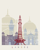 Lahore skyline poster Stock Images