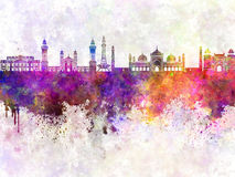 Lahore skyline in watercolor Royalty Free Stock Photos