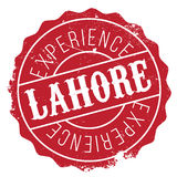 Lahore stamp rubber grunge Stock Photos