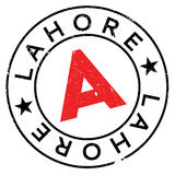 Lahore stamp rubber grunge Royalty Free Stock Image