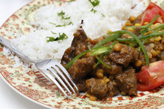 Lahore style lamb curry closeup Royalty Free Stock Photo