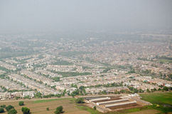 Lahore widok z lotu ptaka Fotografia Stock