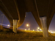 Lahovicka estakada. Highway ramps in Lahovice, a part of Prague ring road Royalty Free Stock Photo