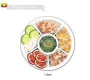 Lahpet or Burmese Pickled Tea Leaf Salad Royalty Free Stock Image