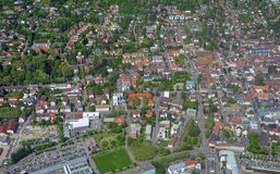 Lahr, Ortenau-Antenne Lizenzfreies Stockfoto