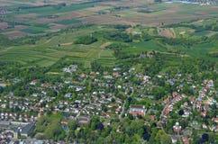 Lahr, Ortenau-Antenne Lizenzfreie Stockfotografie