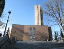 Lahti Church. Church of Lahti, Finland, by the famous Architect Alvar Aalto Stock Photo