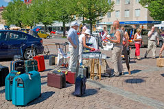 Lahti. Finland. Market Square in the town of Lahti. Finland Royalty Free Stock Images