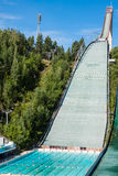 LAHTI, FINLAND - JUNE 21,2011: The symbol of the city, ski jump Royalty Free Stock Photos