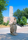 Lahti. Finland. The Sitting Willow Statue Stock Photos