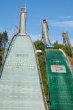 LAHTI FINLANDIA, CZERWIEC, - 21,2011: Symbol miasto, narciarski skok Zdjęcia Royalty Free