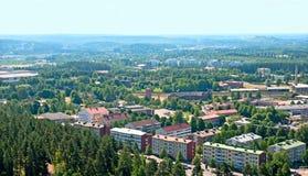 Lahti Finlandia Odgórny widok Obrazy Royalty Free