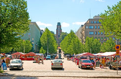 Lahti Finlandia Targowy kwadrat Zdjęcie Royalty Free