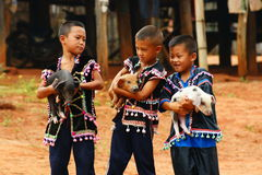 Lahu hill tribe stock image