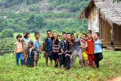 Lahu hill tribe children Stock Photo