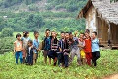 Lahu hill tribe children stock photo