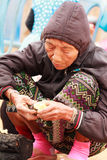 Lahu tribe old woman Royalty Free Stock Photo