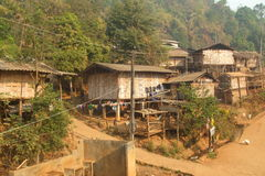 Lahu Village. In northern Thailand Stock Photos