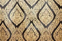 Lai siamesisch in der traditionellen siamesischen Artanstrichkunst lizenzfreies stockfoto