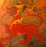 Lai Sing thai Mural Stock Photo