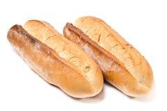 Laib des französischen Brotes zwei Lizenzfreie Stockfotografie