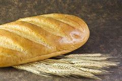 Laib des weißen Brotes Lizenzfreie Stockfotos