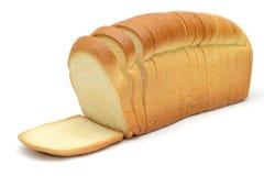 Laib des weißen Brotes Stockfoto