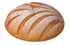 Laib des weißen Brotes Stockfotografie