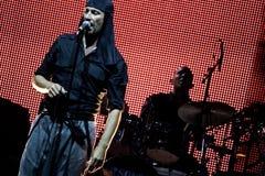 LAIBACH - τραγουδιστής βράχου Στοκ φωτογραφία με δικαίωμα ελεύθερης χρήσης