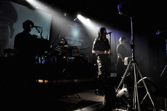 Laibach band performs live Stock Image