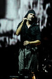 LAIBACH - rock singer. BELGRADE, SERBIA - AUGUST 12 : Industrial rock music band LAIBACH performs onstage at Belgrade BeerFest 2009 at Usce August 12, 2009 in Stock Images
