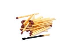 Laid använde matchsticks Arkivfoton