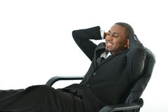 Laid Back Businessman. Business man relaxing on his chair Royalty Free Stock Photo