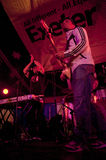 Laid Blak performing live in the World Big Top Royalty Free Stock Images