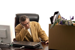 Laid-off-head in hand Stock Photo