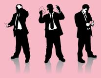 Laid Off with a Pink Slip Vector Graphic Set stock illustration