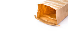 Laid opened paper brown bag Stock Images