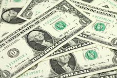 Laid out in the bill one US dollar  background Royalty Free Stock Photo