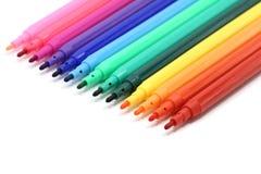 Laid out coloreó a los marcadores Fotografía de archivo