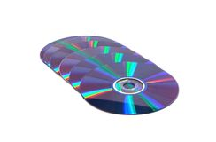 Laid out in a number compact disk Stock Photo