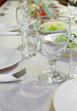 Laid restaurant table Royalty Free Stock Images