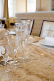 Laid restaurant table Royalty Free Stock Photos
