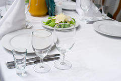 Laid table Stock Images