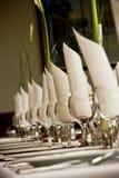 Laid table. Glasses, napkin celebration royalty free stock images
